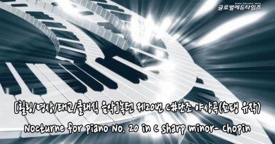 [힐링/명상/태교/클래식 음악]녹턴 제20번 C#단조 야상곡(쇼팽 유작)